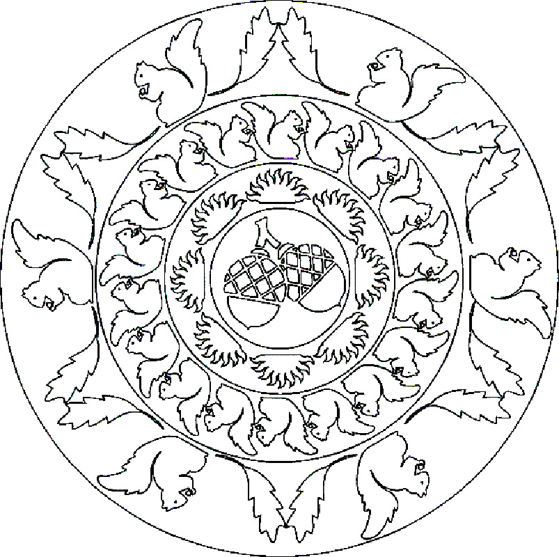 Animal Coloring Pages For Adults Mandala