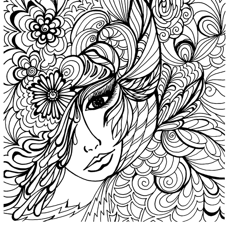 Art Coloring Page For Adults