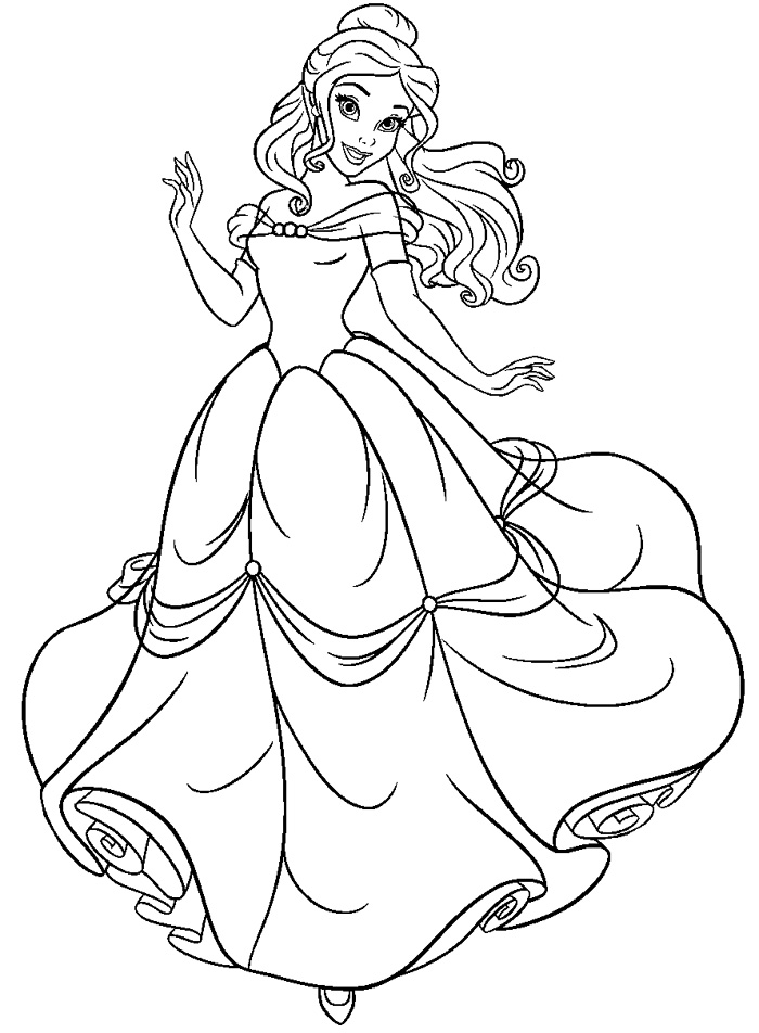Beauty And The Beast Coloring Page Printable