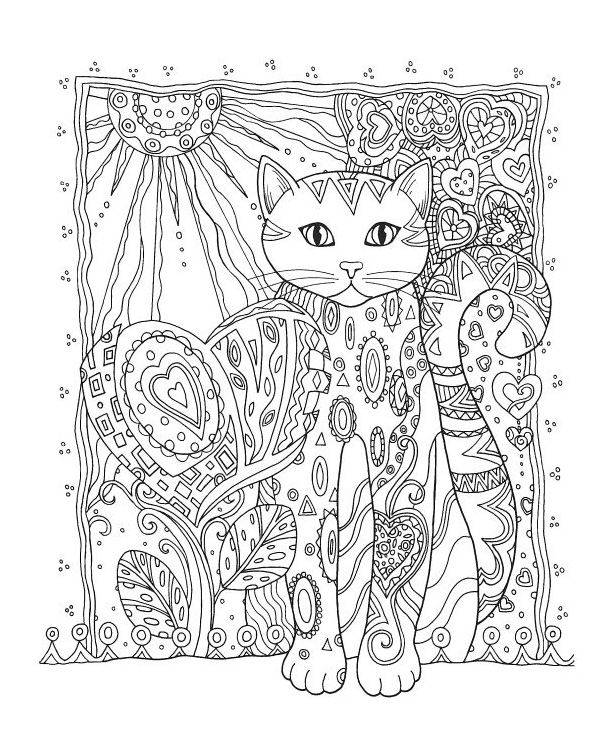 Download Cat Coloring Pages For Adults