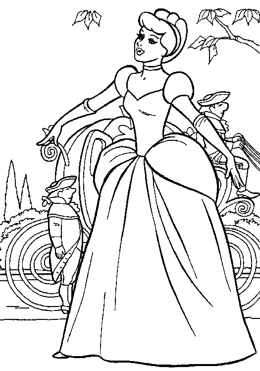 free cinderella carriage coloring pages - photo#22
