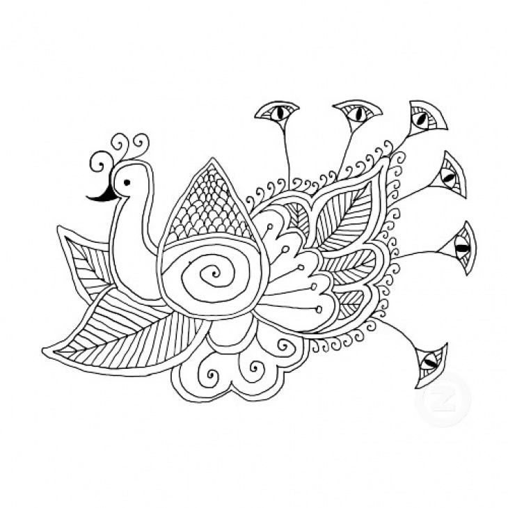 Coloring Pages For Adults Abstract Animals