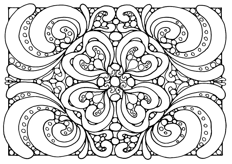 Coloring pages for adults abstract for Free printable abstract coloring pages