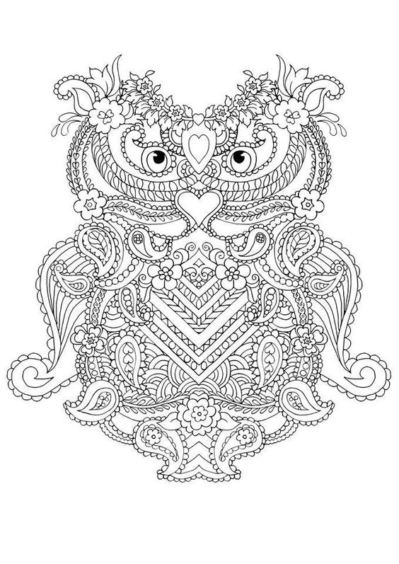 owl abstract coloring pages - photo#4