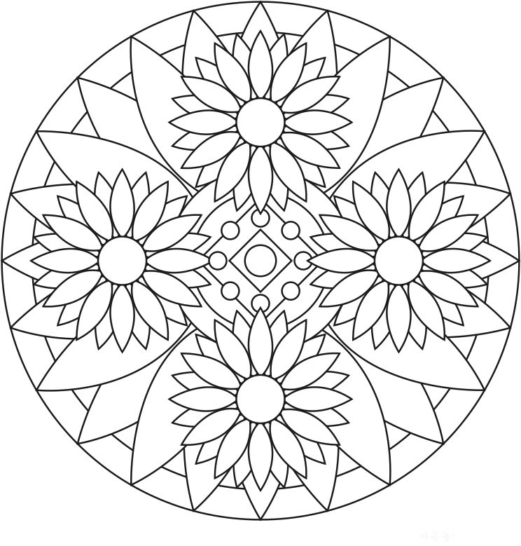coloring pages for adults mandala printables