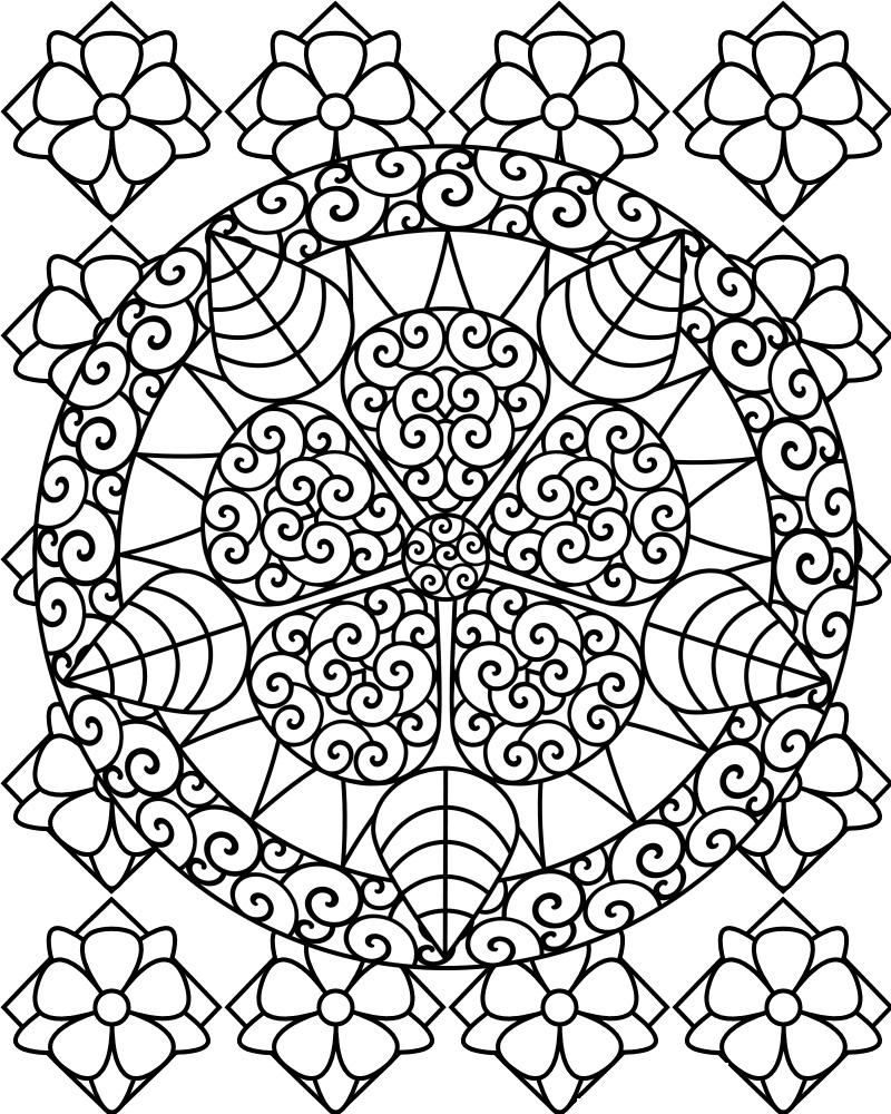 Christmas mandala coloring pages printable - Coloring Pages For Adults Mandala
