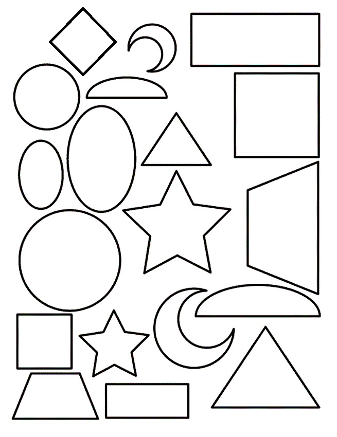 Coloring Pages For Toddlers Shapes