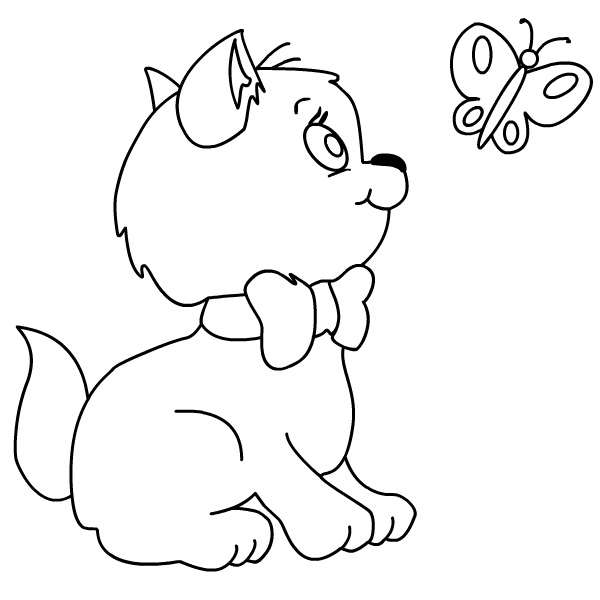 kitten printout coloring pages - photo#24