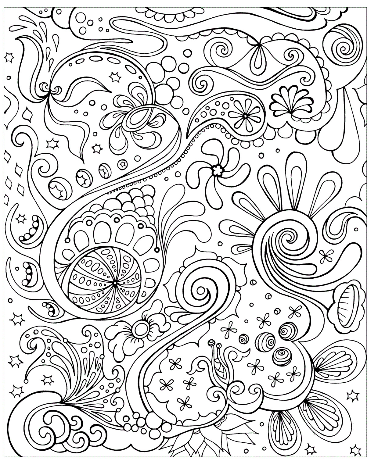 Difficult Coloring Pages Abstract