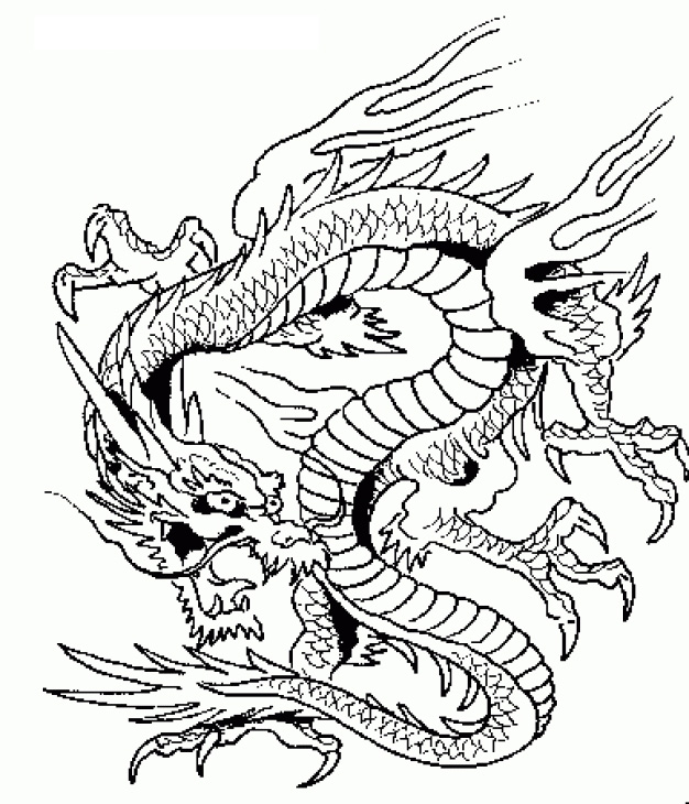 Difficult Coloring Pages Dragons