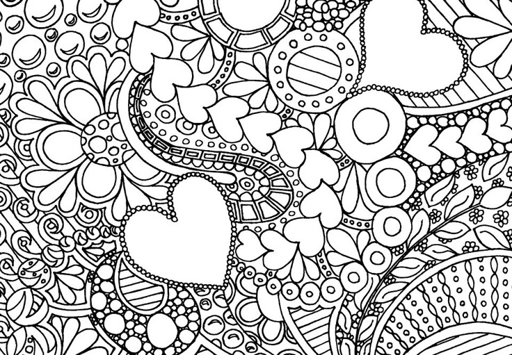 Difficult Coloring Pages on High Valentines Worksheets Best Free Printable