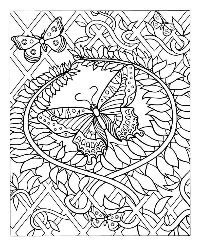 hard coloring pages for free - photo#11
