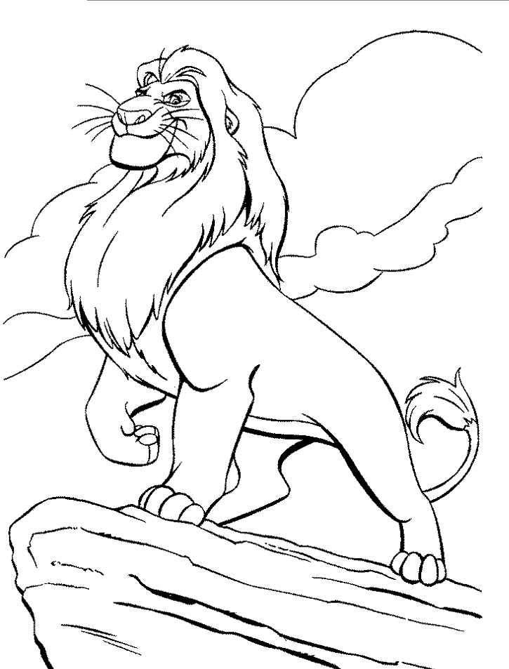 Disney Lion King Coloring Pages for Boy