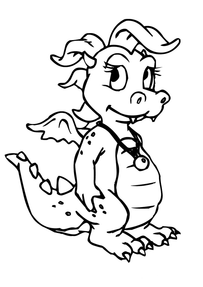 Dragon Coloring Pages For Preschoolers