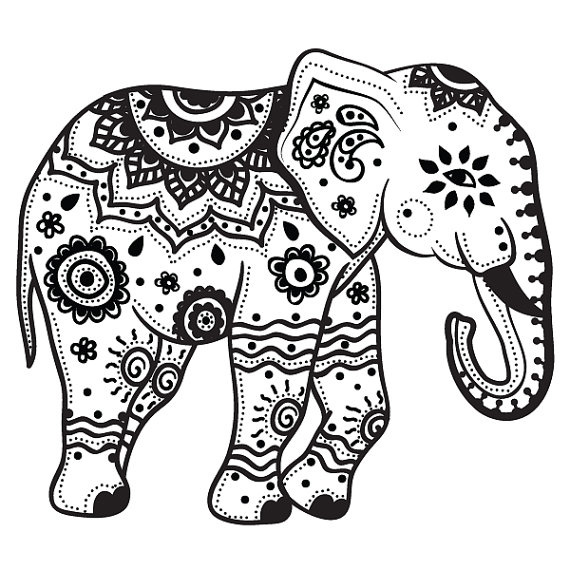 elephant coloring pages for adults to print - Color Pages For Adults