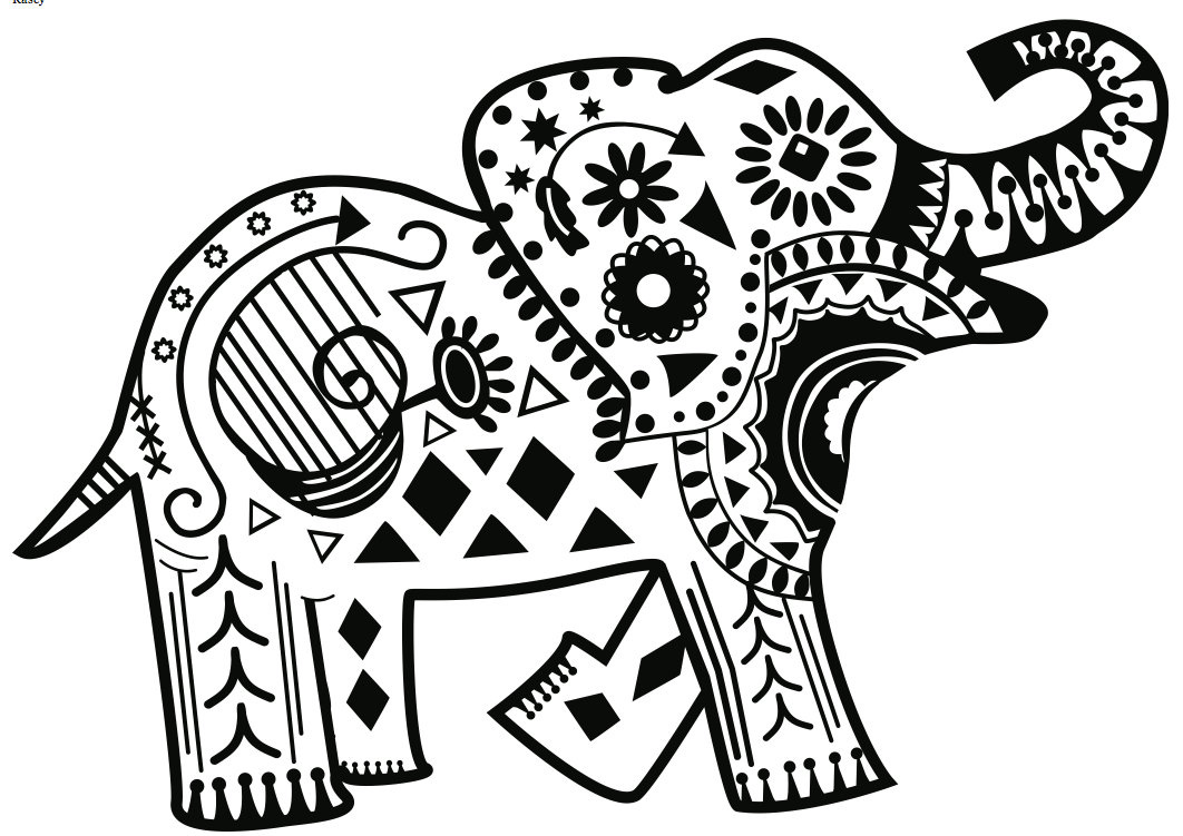 Download elephant coloring pages for adults Coloring book elephant