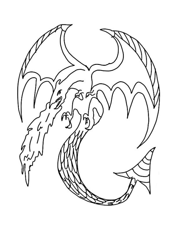 Fire Dragon Coloring Pages