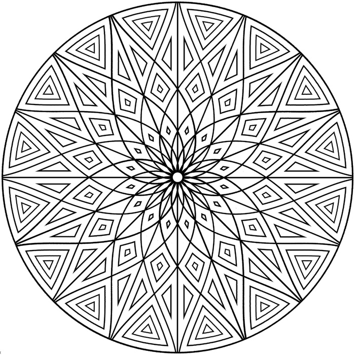 Flower Geometric Coloring Pages For Adults
