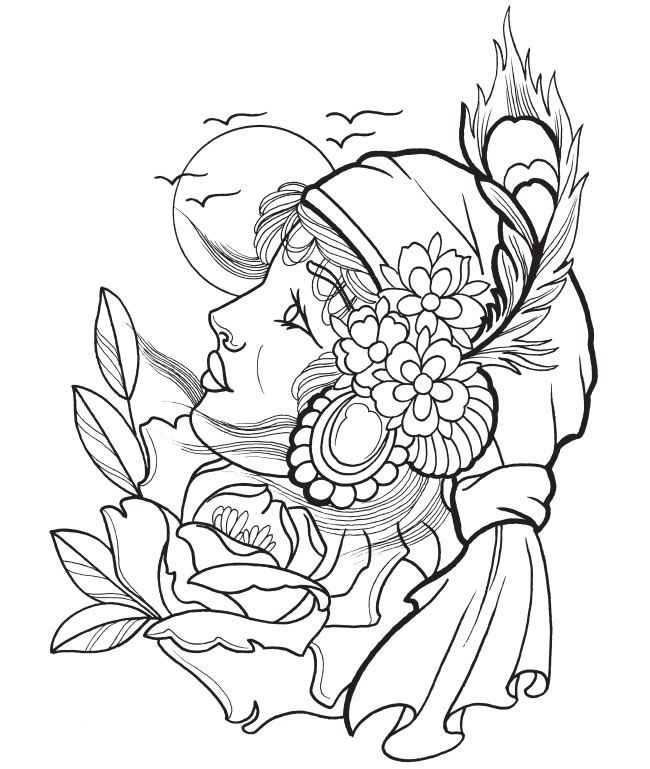 Free Art Coloring Pages For Adults