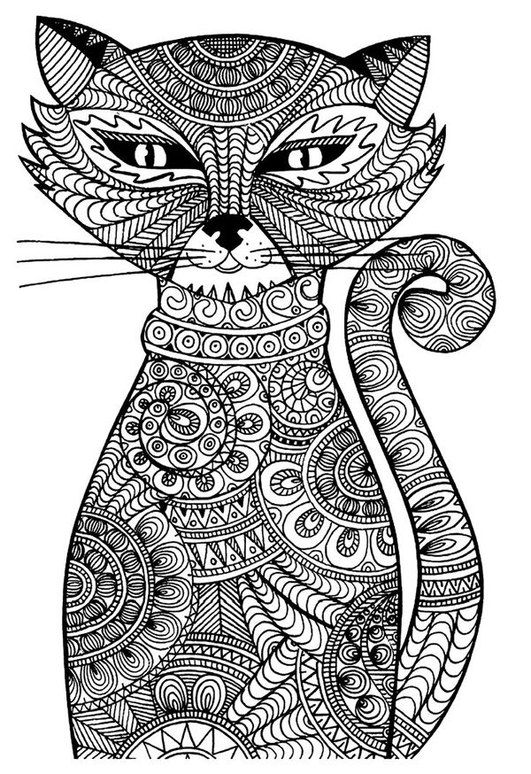 Free Cat Coloring Pages For Adults
