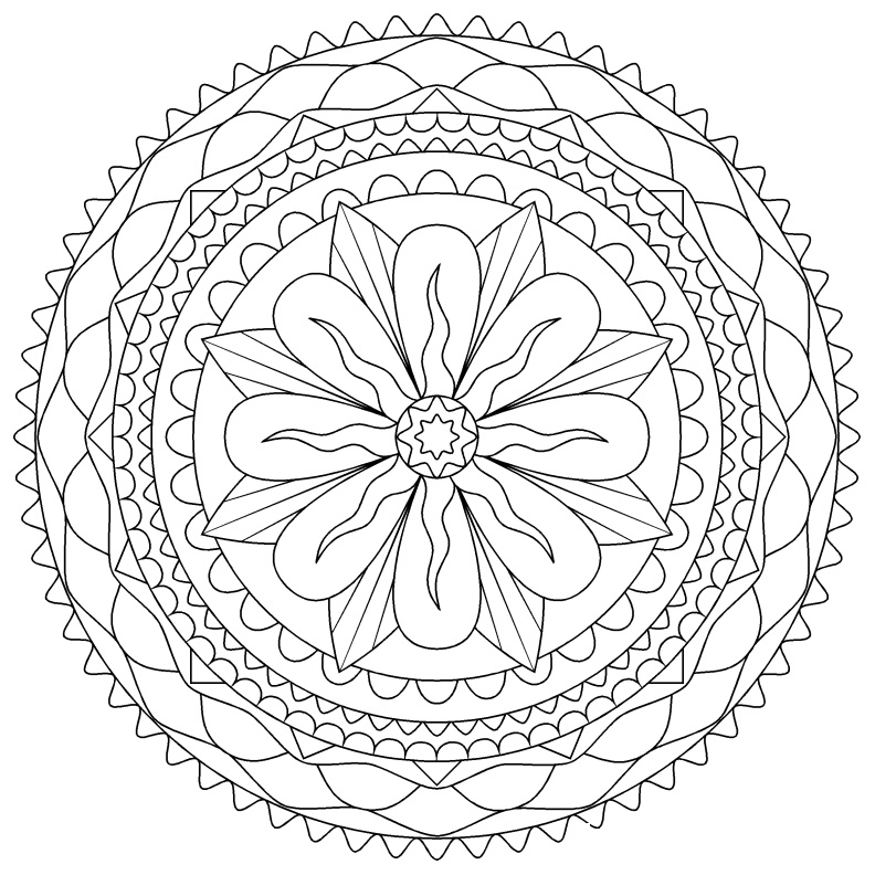 Free Coloring Pages For Adults Mandala