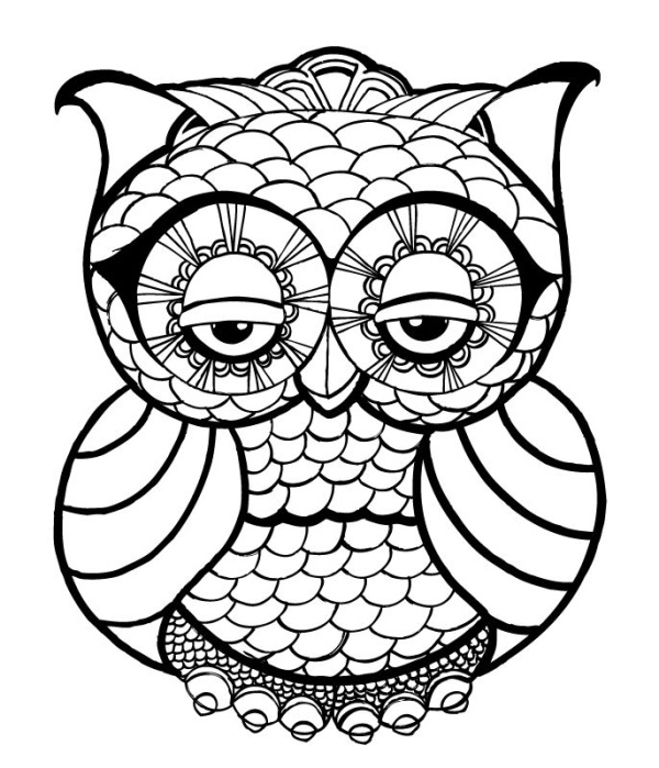 Free Printable Owl Coloring Pages For Adult