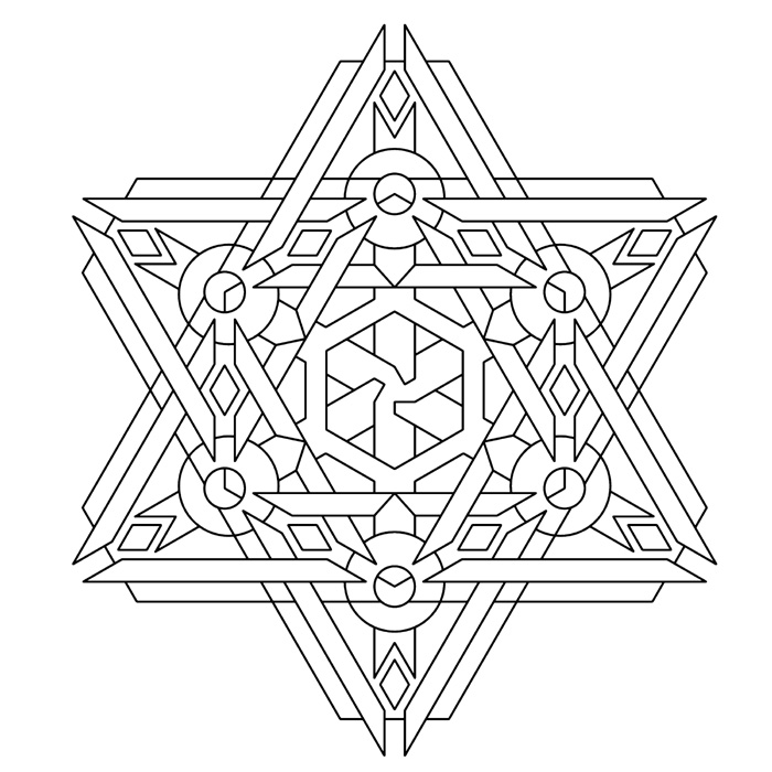 Free geometric coloring pages for adults for Geometric coloring pages online