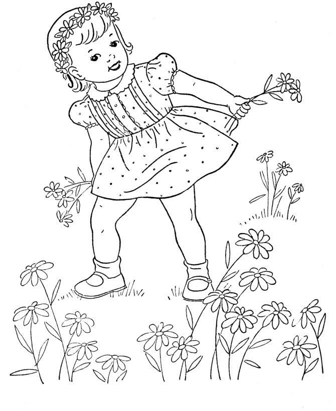Girl Coloring Pictures