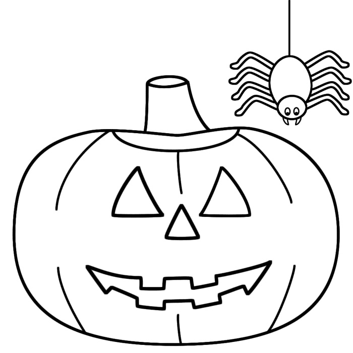 Printable coloring pages for toddlers for Halloween print out coloring pages