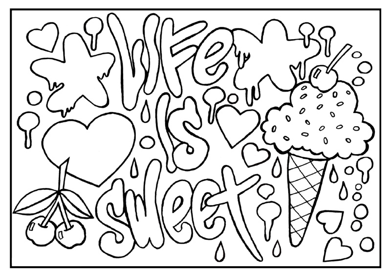 colorama coloring pages printable - photo#11
