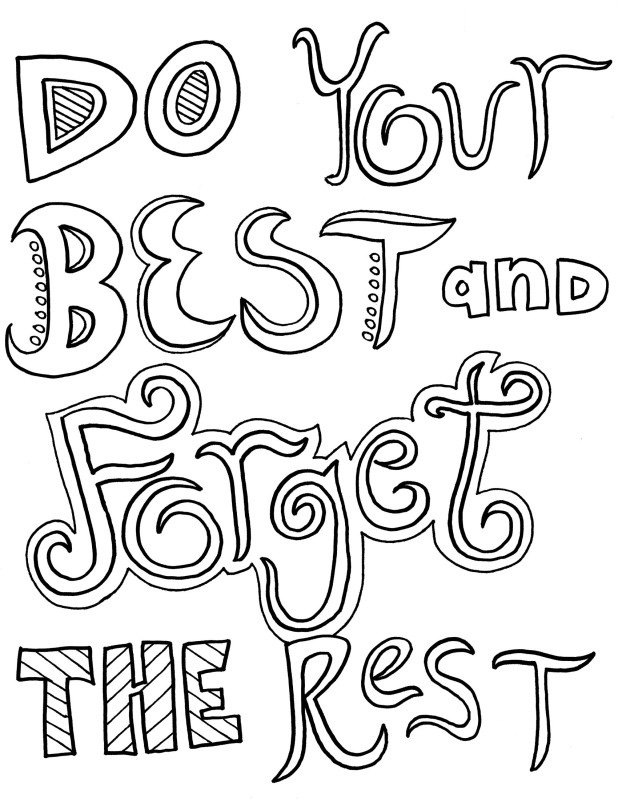 Inspirational Quotes Coloring Pages For Adults : Inspirational quotes coloring pages for adults