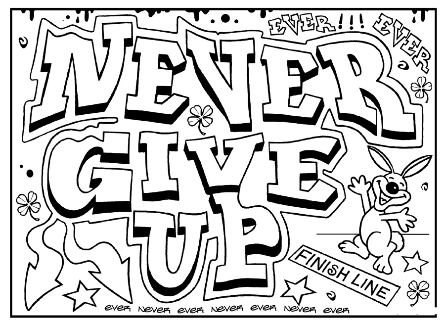 inspirational quotes coloring pages for adults - Quote Coloring Pages