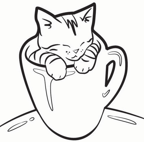 lovely kitten coloring pages