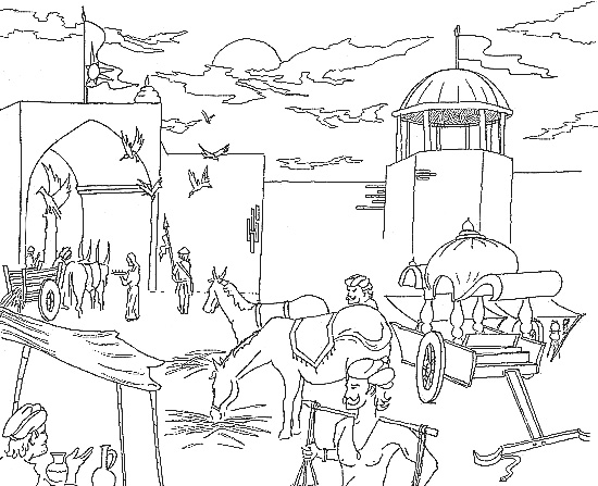 Detailed Landscape Coloring Pages For Adults - Part 4 | 447x550