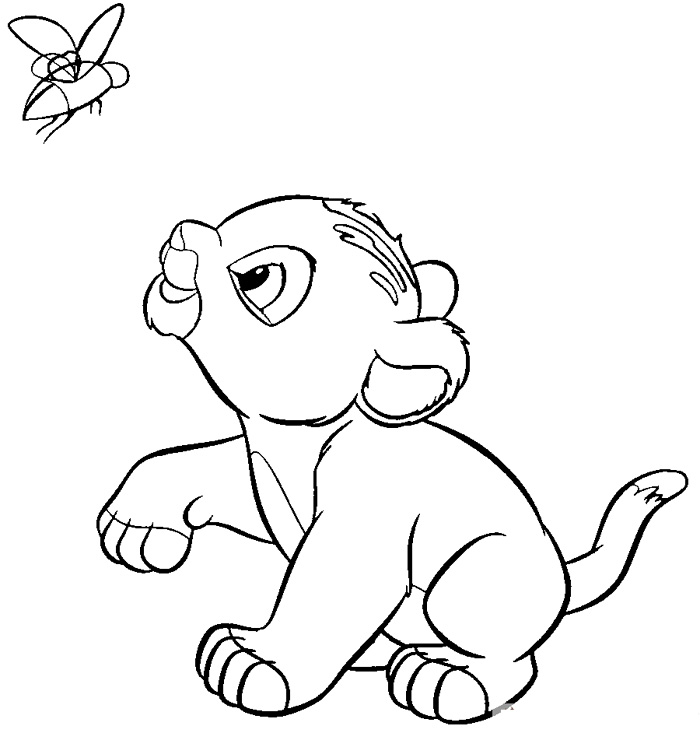Lion King Coloring Pages Baby Simba
