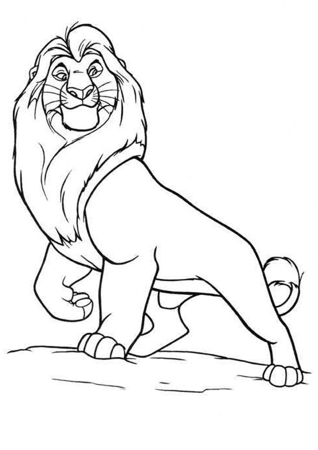 Lion King Coloring Pages Mufasa