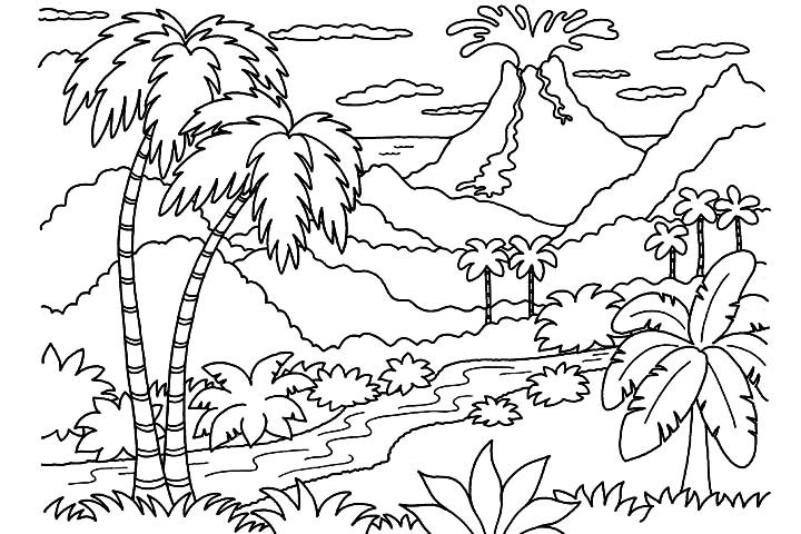 Nature Coloring Pages For Adults 5