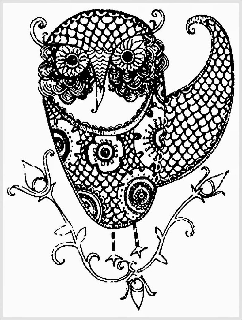 Owl Coloring Pages For Adult 1