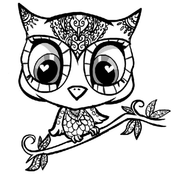 Owl Coloring Pages For Adult 2