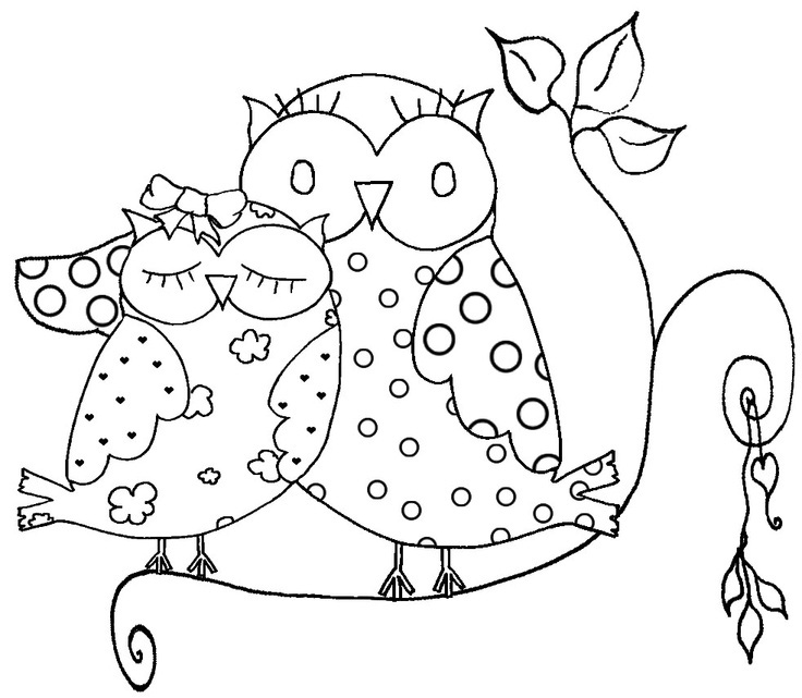 Simplicity image for printable owl coloring pages for adults