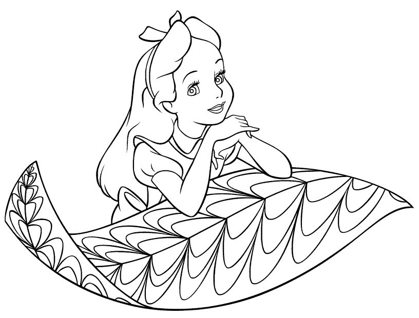 Printable Coloring Girl Pages
