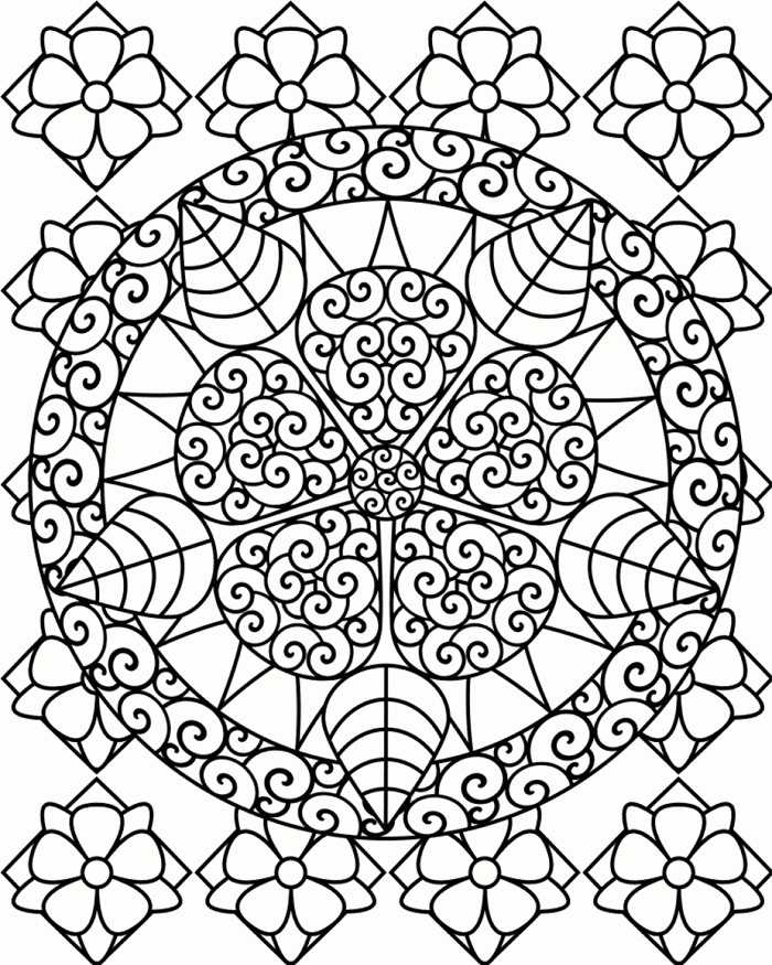 printable coloring pages flower