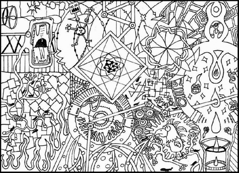 Coloring pages for adults abstract for Hard printable coloring pages