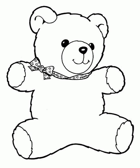 Teddy bear coloring pages for toddlers