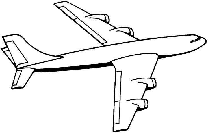 - Airplane Coloring Pages To Print For Free