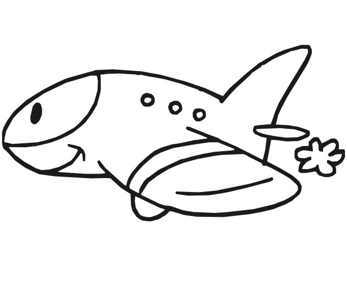 Airplane Coloring Pages For Preschool