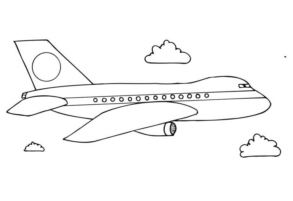 southwest airplane coloring pages - photo#23