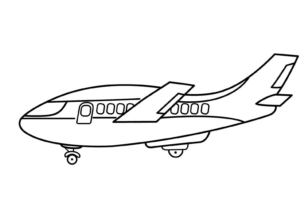 southwest airplane coloring pages - photo#19