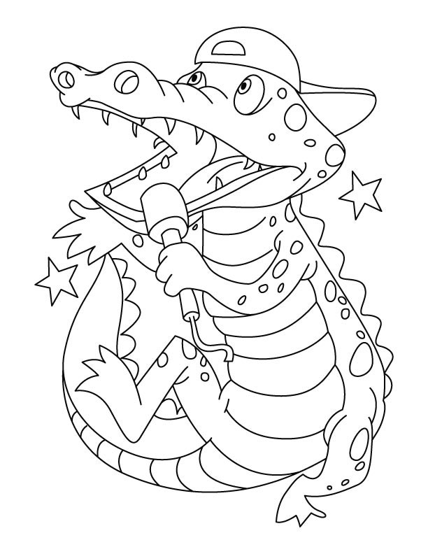 Baby Crocodile Coloring Pages