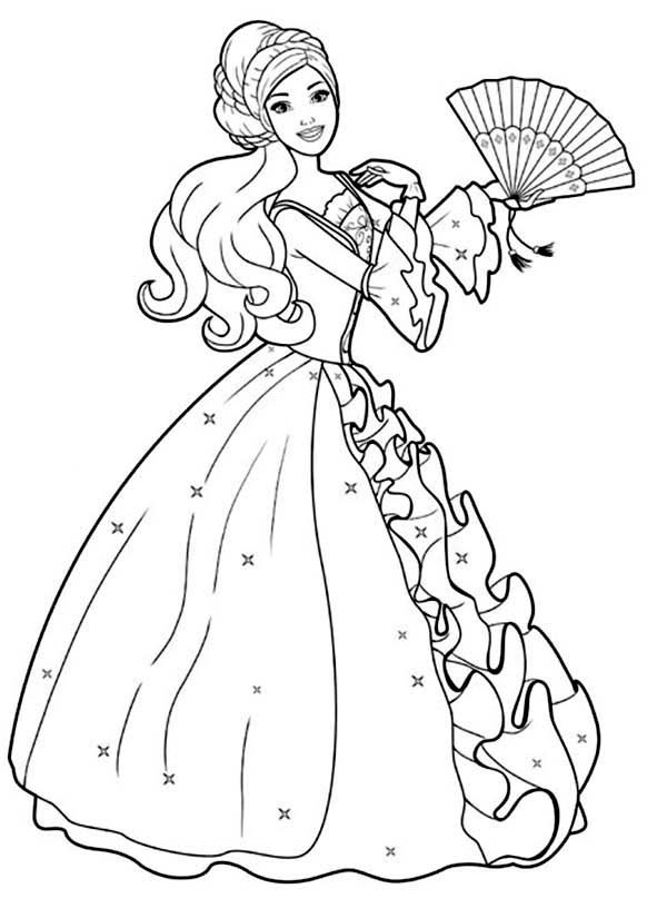 Barbie Coloring Pages Free Download